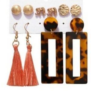 Jewelry - Cute Bohemian 5pcs earrings set